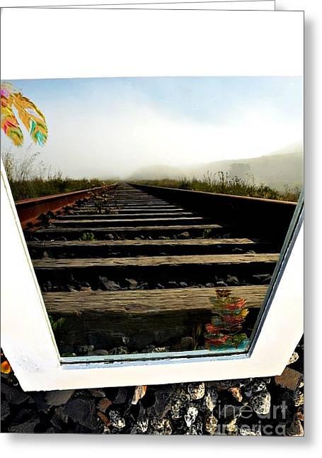 Railroad Reflections Greeting Card