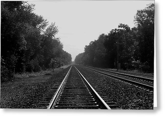 Railroad To Nowhere Greeting Card by Trish Tritz