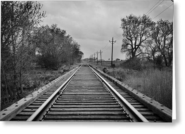 Railroad Tracks Greeting Card by Matthew Angelo