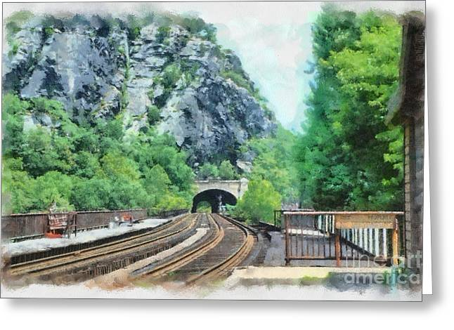 Railroad Trails Greeting Card