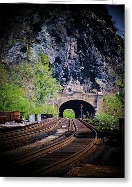 Railroad Tunnel Greeting Card