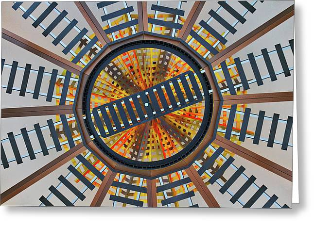 Railroad Turntable Abstract Greeting Card