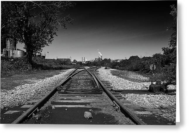 Greeting Card featuring the photograph Rails-1 by Joseph Amaral
