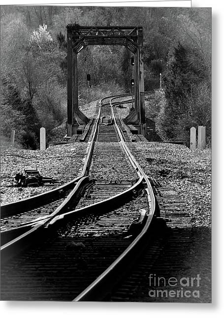 Rails Greeting Card by Douglas Stucky