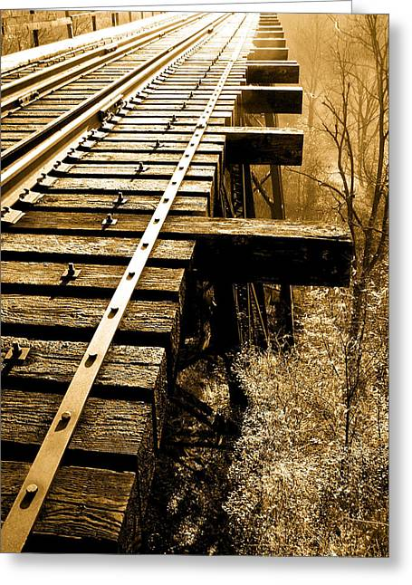 Rails Of Olde  Greeting Card by Adrienne Talbot