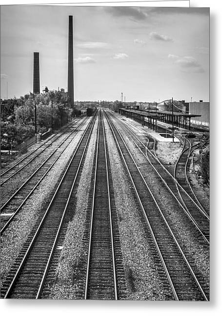 Greeting Card featuring the photograph Rails Through Birmingham by Ken Johnson
