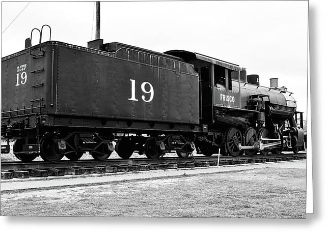 Railway Engine In Frisco Greeting Card