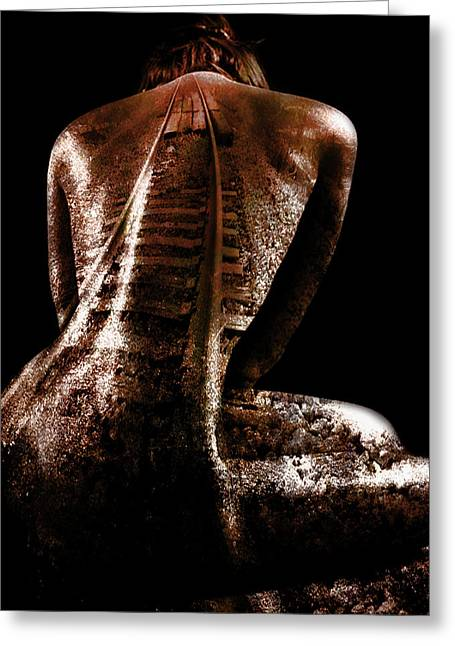 Railway Skin Greeting Card by Marian Voicu