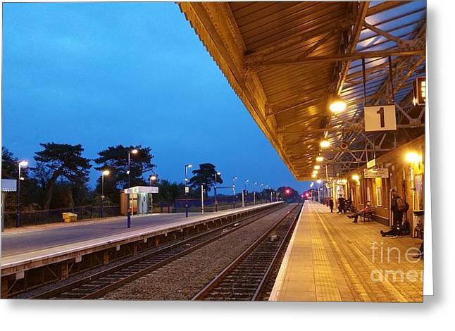 Greeting Card featuring the photograph Railway Vanishing Point by Jeremy Hayden