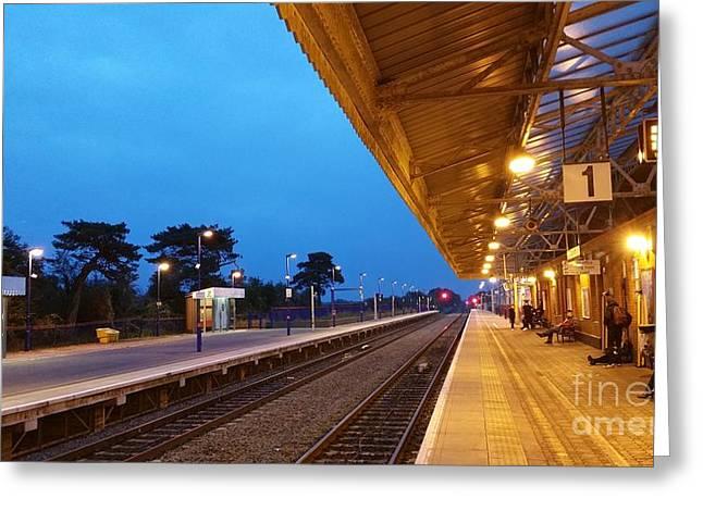 Railway Vanishing Point Greeting Card
