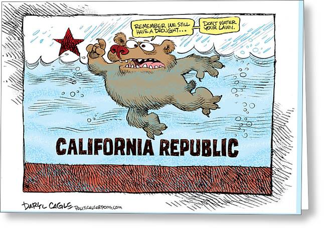 Rain And Drought In California Greeting Card