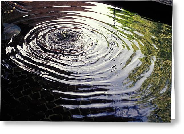 Rain Barrel Greeting Card by Carl Purcell