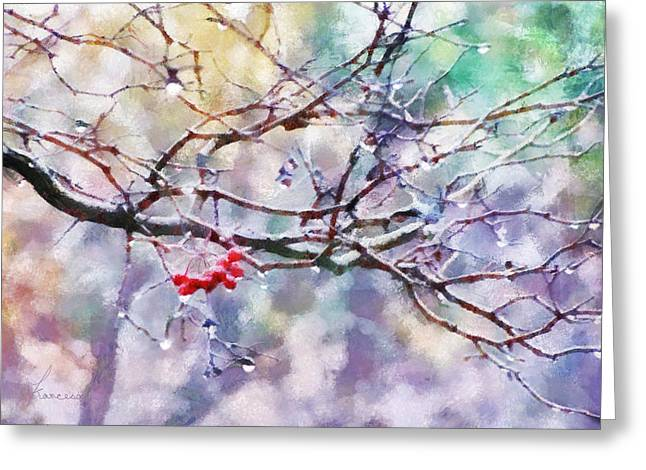 Rain Berries Greeting Card
