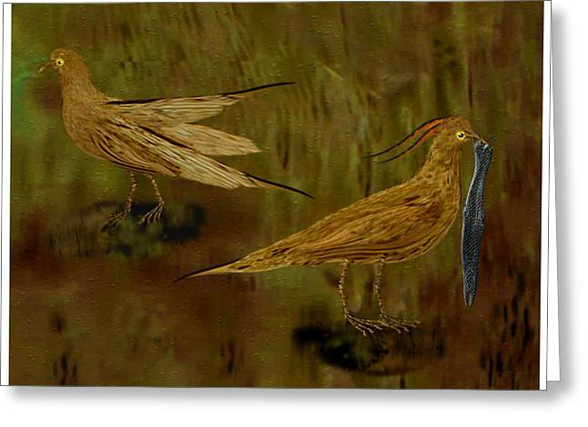 Rain Bird Hunt Greeting Card by Jerry White