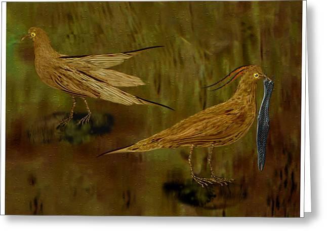 Rain Bird Hunt Greeting Card