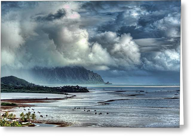 Rain Clearing Kaneohe Bay Greeting Card