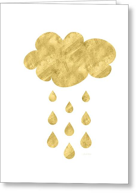 Rain Cloud- Art By Linda Woods Greeting Card by Linda Woods