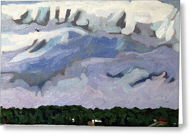 Rain Clouds Greeting Card by Phil Chadwick