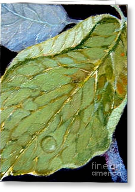Greeting Card featuring the painting Rain Drop  by Diane Ursin