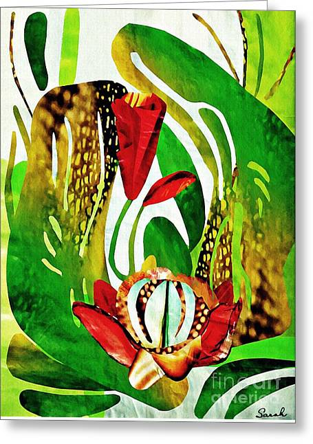 Rain Flowers Greeting Card