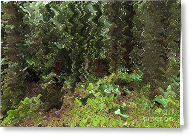 Rain Forest Abstract Greeting Card by Sharon Talson
