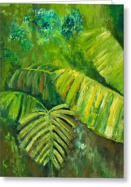Rain Forest Greeting Card by Carol P Kingsley