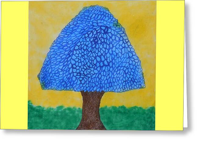 Rain Harmony Tree Greeting Card