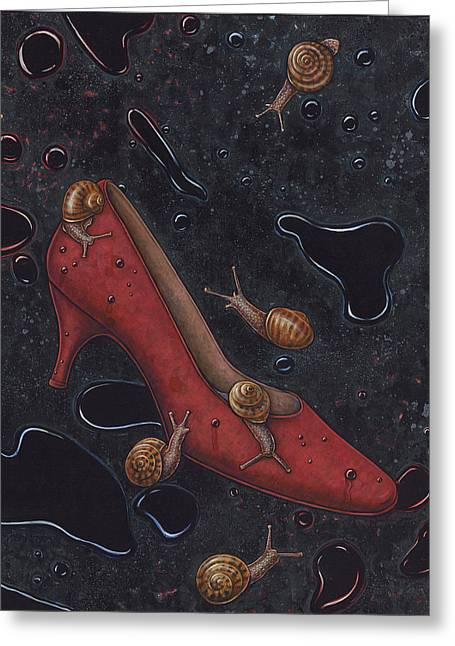 Rain Greeting Card by Holly Wood