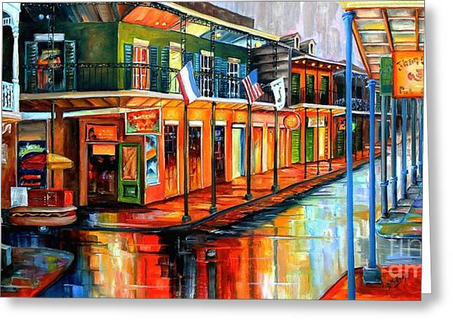 Rain In The Big Easy Greeting Card