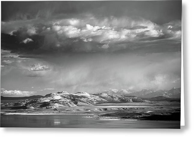 Greeting Card featuring the photograph Rain Over Crater Mountain by Alexander Kunz