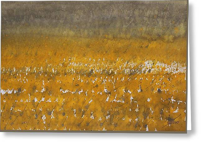 Rain Over The Marsh Greeting Card by Sol Luckman