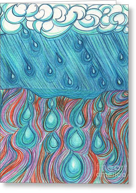 Rain Saturation By Jrr Greeting Card