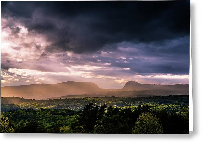 Rain Showers Over Willoughby Gap Greeting Card