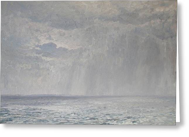 Andrey Greeting Cards - Rain under the Volga Greeting Card by Andrey Soldatenko