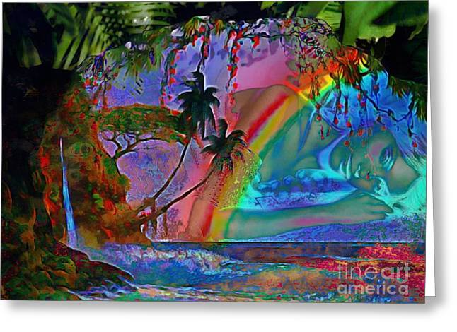 Rainboow Drenched In Layers Greeting Card