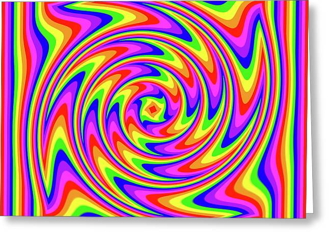 Greeting Card featuring the digital art Rainbow #2 by Barbara Tristan