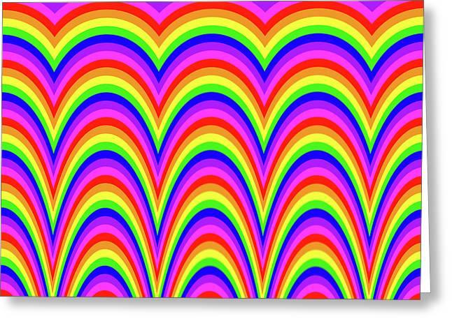 Greeting Card featuring the digital art Rainbow #4 by Barbara Tristan