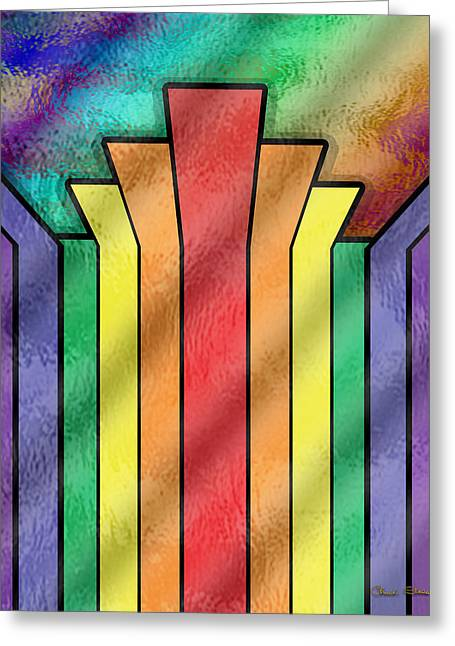 Rainbow 4 - Chuck Staley Greeting Card by Chuck Staley