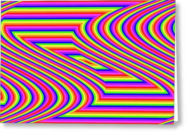 Greeting Card featuring the digital art Rainbow #5 by Barbara Tristan