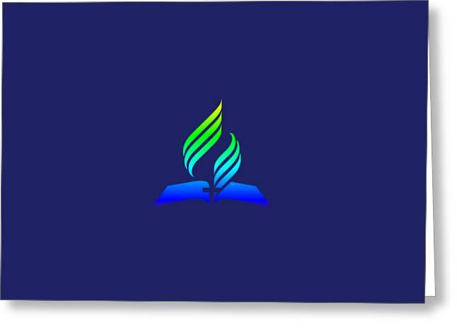Rainbow 7th Day Adventist Symbol Greeting Card by Frederick Holiday