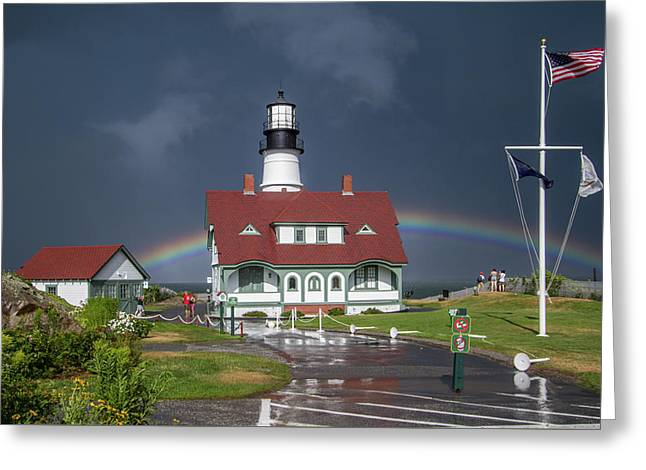 Greeting Card featuring the photograph Rainbow After The Storm by Darryl Hendricks