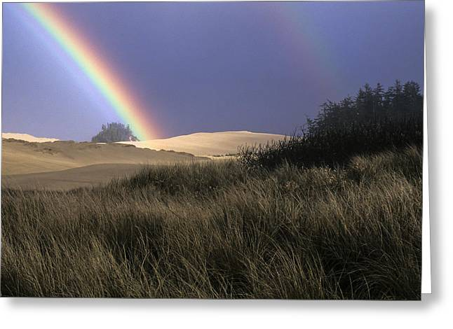 Rainbow And Dunes Greeting Card