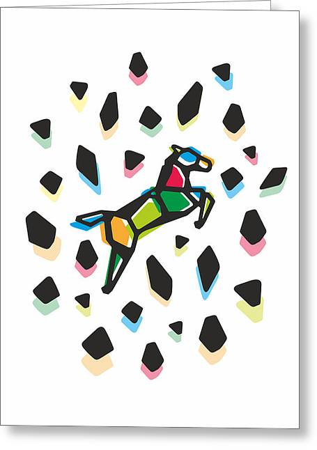 Rainbow Anigami Horse Greeting Card