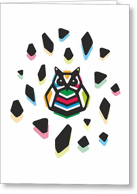 Rainbow Anigami Owl Greeting Card
