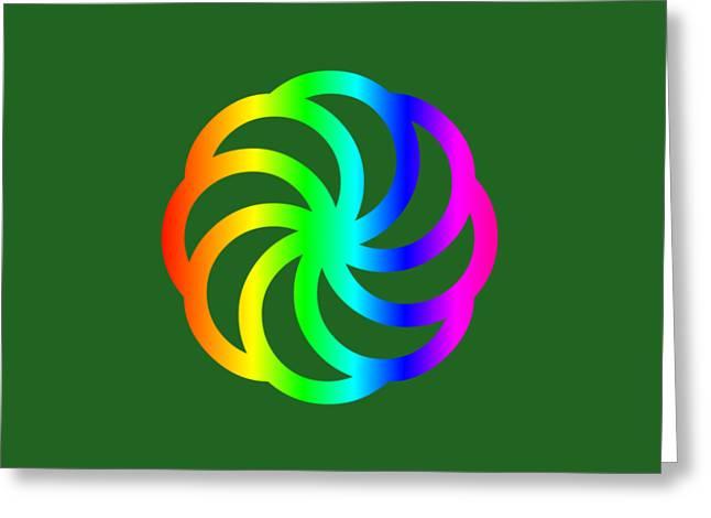 Rainbow Armenian Eternity Symbol Greeting Card by Frederick Holiday