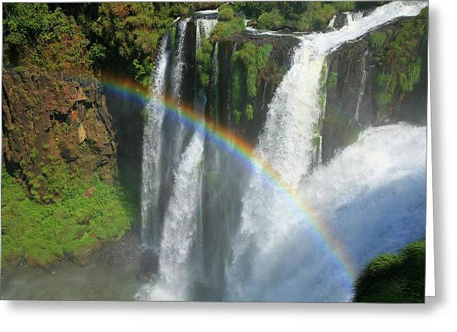 Rainbow At Iguazu Falls Greeting Card
