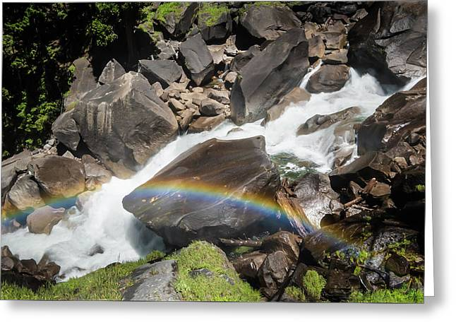 Greeting Card featuring the photograph Rainbow At Vernal Falls- by JD Mims
