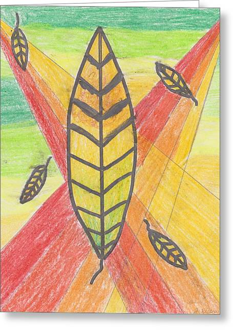 Rainbow Autumn Greeting Card by Jessica Ristau