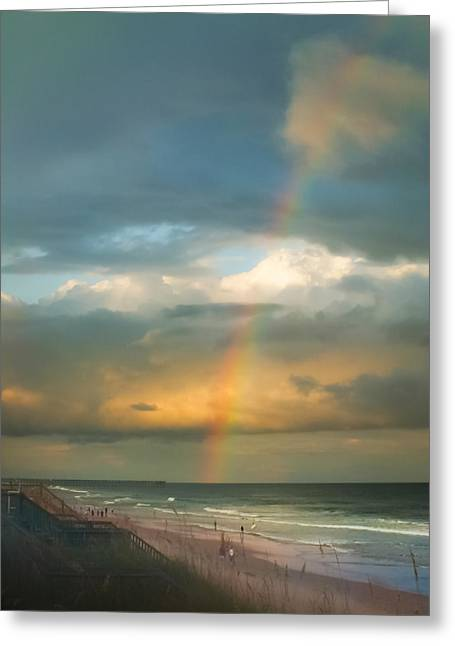 Rainbow Beach Greeting Card by Karen Wiles