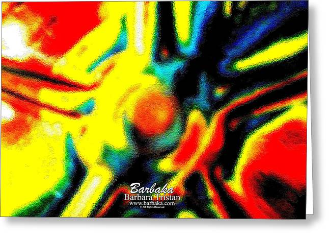 Greeting Card featuring the photograph Rainbow Bliss #051347 by Barbara Tristan